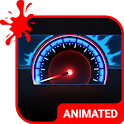 Speedometer Animated Keyboard + Live Wallpaper icon