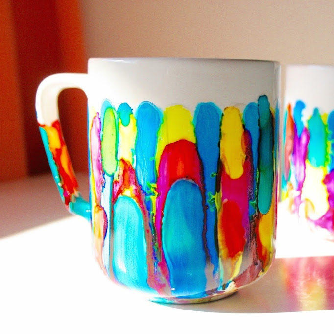 DIY Tye Dye Mugs