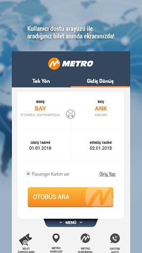 metroturizm online ticket sale screenshot 1