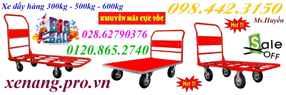 Xe đẩy hàng 300kg, 500kg và 600kg