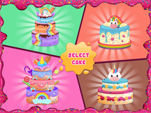 Unicorn Cake Donut Maker Baking Kitchen screenshot 10