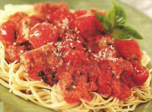 Angel Hair Pasta With Tomato Chicken Cream Sauce