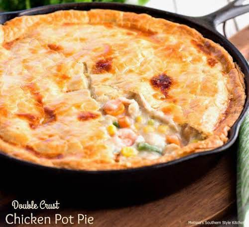 """Click Here for Recipe: Double Crust Chicken Pot Pie """"This Double Crust..."""