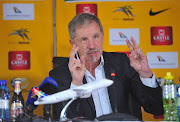 Bafana Bafana coach Stuart Baxter speaks to the media at Safa House during his squad announcement for South Africa's Africa Cup of Nations (Afcon) qualification match against Lybia August 28 2018.
