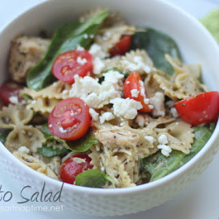 Pesto Salad w/ chicken, feta & tomatoes