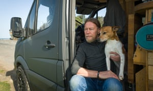 Rich and his dog, Gus