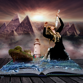 The power of books by Gary Power - Digital Art People ( music, model, digital art, art, photoshop )