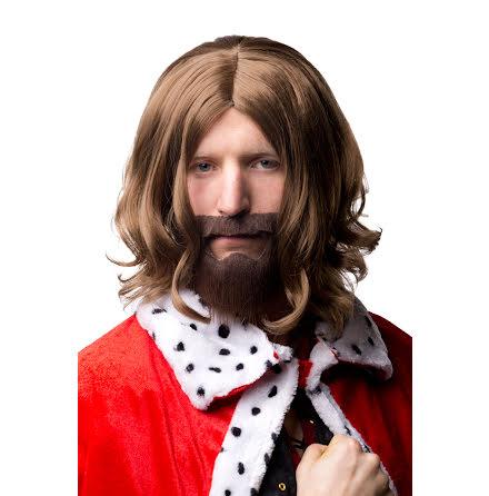 Peruk, kung med skägg