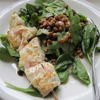 Grilled Cod Over Lentil Currant Salad Recipe