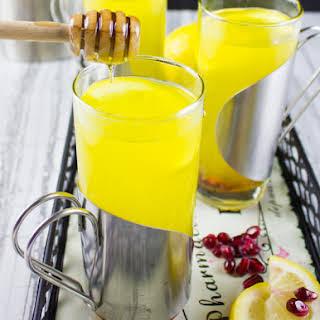 Soothing Lemon Ginger Turmeric Drink.