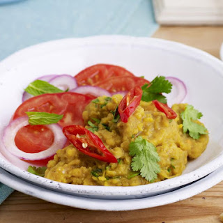 Dahl with Tomato and Onion Salad