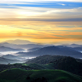 East Bay Sunrise by Gary Pope - Landscapes Mountains & Hills ( hills, east bay, sunrise, landscape, sibley )