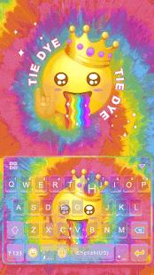 Tie Dye Keyboard Theme - náhled