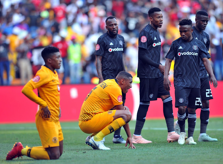 Mario Booysen of Kaizer Chiefs looks dejected after the Absa Premiership match against Orlando Pirates pm October 27, 2018 at FNB Stadium.