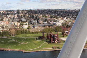 Photo: Gas Works. If you know where it is, you can see a tiny bit of our house.