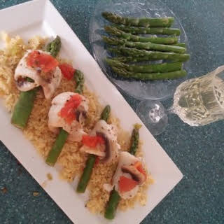 Fish and Asparagus Rolls.