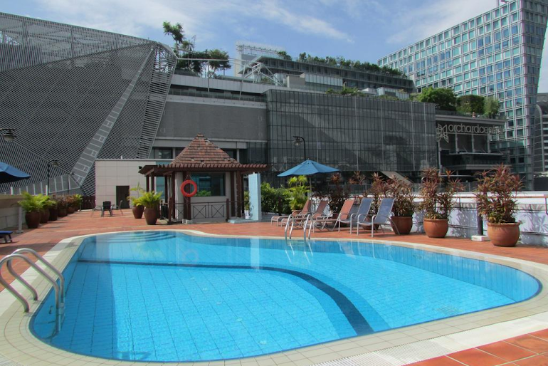 Pool side at Orchard Road Serviced Apartments, Orchard Road