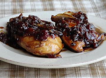 Chicken In Balsamic Cherry Sauce Recipe