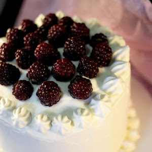 Wild Blackberries and Whipped Cream Layer Cake