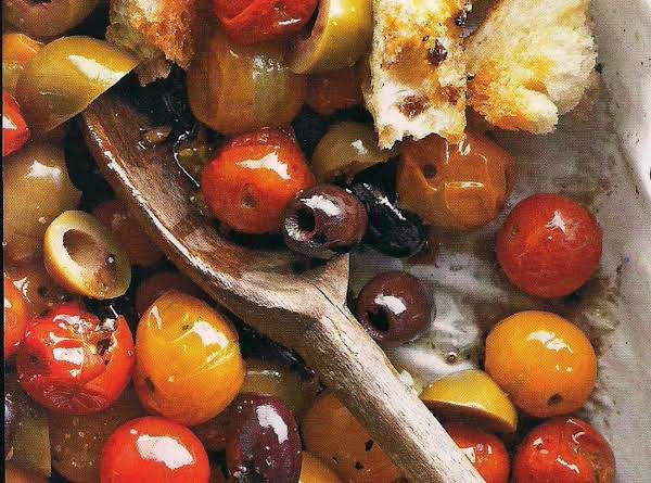 Roasted Tomato And Bread Toss