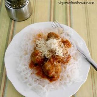 Low Carb Spaghetti & Meatballs