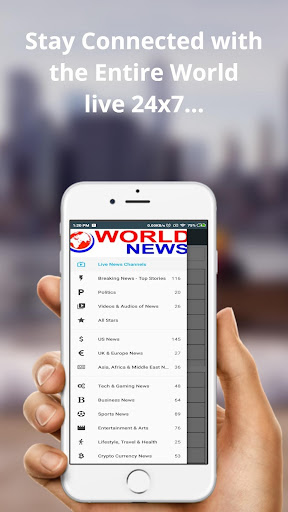 World News ud83dudcf0: A Global and International News App v6.0 screenshots 1