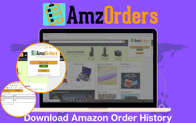 AmzOrders - Amazon Order History Downloader