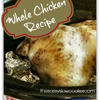 Roasted Slow Cooker Whole Chicken Recipe!