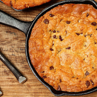 Giant Gooey Skillet Chocolate Chip Cookie.