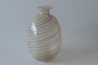 Photo: Mezza filigrana cabinet vase.