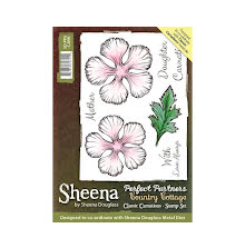 Sheena Douglass Country Cottage Stamp - Classic Carnations UTGÅENDE