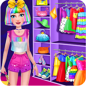 Unicorn Rainbow Makeover - Dress up & Makeup Game for PC