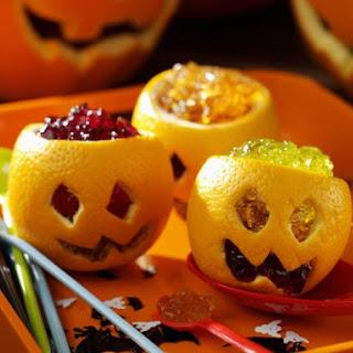 Orange Jelly Jack O' Lanterns