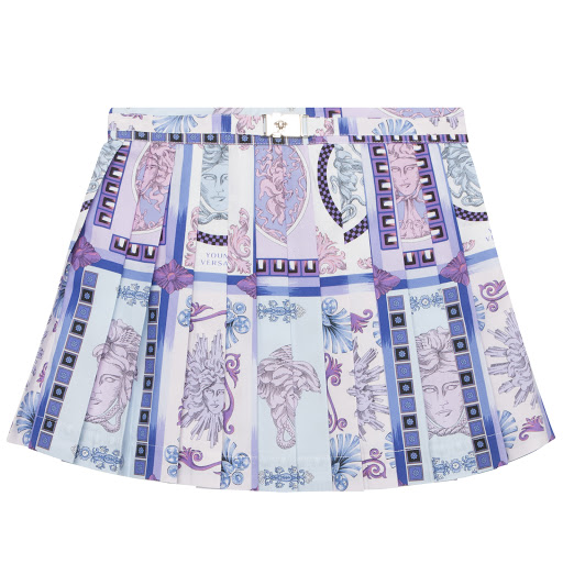 Primary image of Versace Pleated Medusa Skirt
