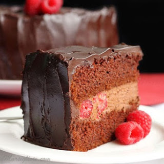 Raspberry Devil's Food Cake