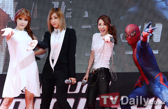 2NE1 and Spider Man