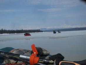 Photo: blowing up the rafts on beluga lake