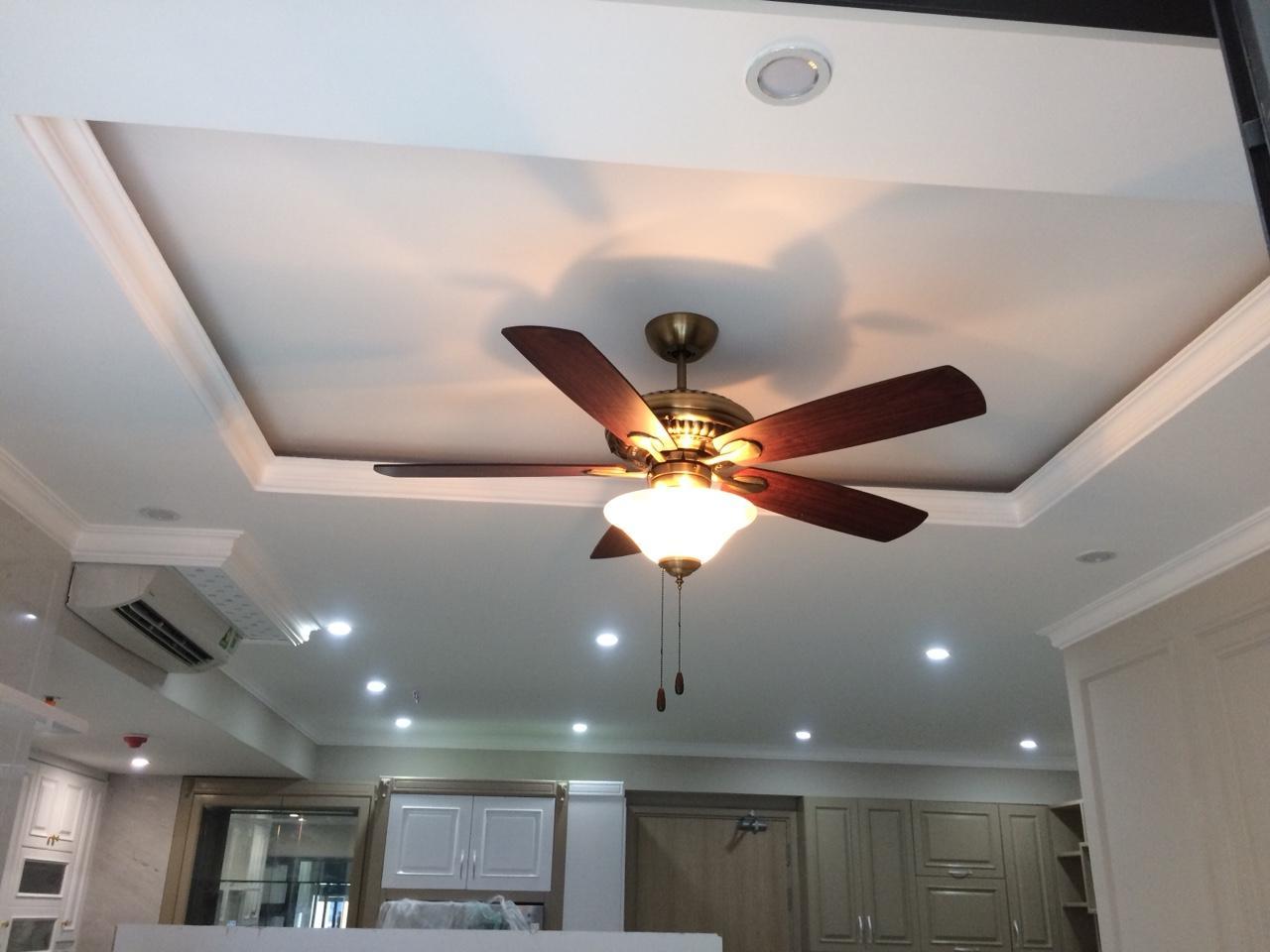 Những lưu ý cơ bản khi lắp quạt trần đèn chùm cho căn hộ