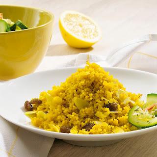 Couscous mit marinierten Zucchini