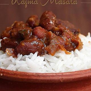 Rajma Masala / Curried Kidney Beans.