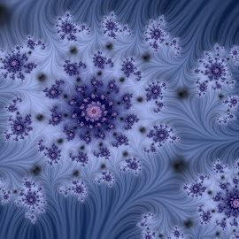 Starry sky by Cassy 67 - Illustration Abstract & Patterns ( digital, sky, love, harmony, fractal art, abstract art, spiral, abstract, stars, fractals, digital art, flower, classic, blue, ocean, modern, light, fractal, energy )