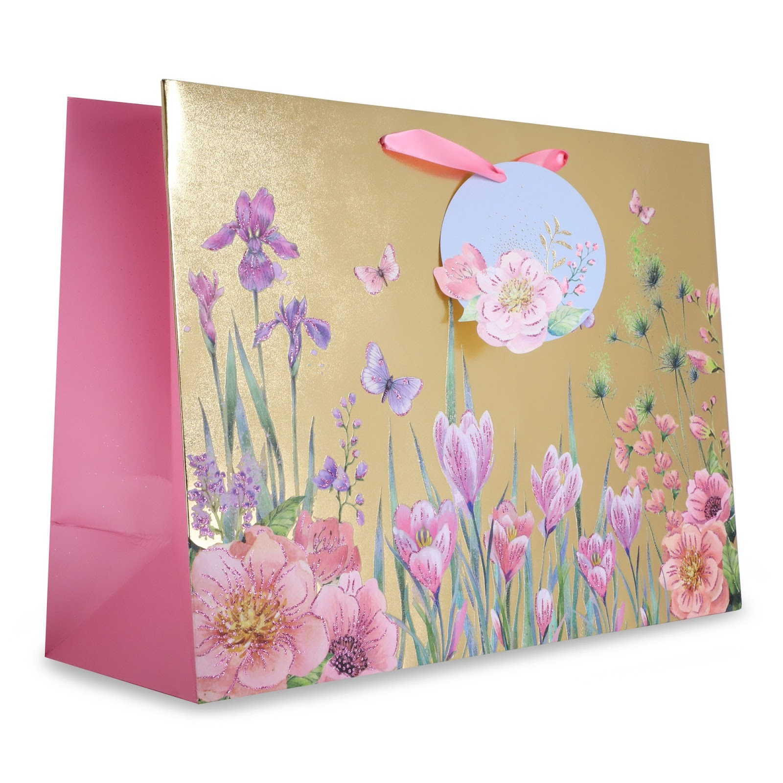Clintons Extra Large Floral Gift Bag