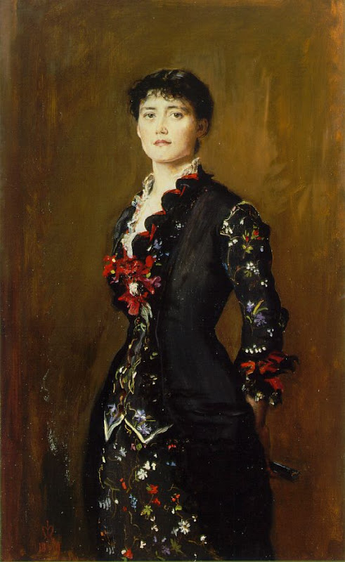 john everett millais, portrait of louise jopling