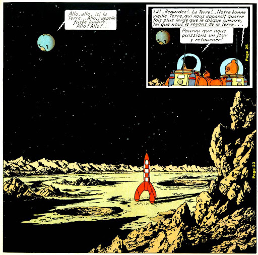 Hergé (Georges Remi), uit `de avonturen van Kuifje: Mannen op de Maan