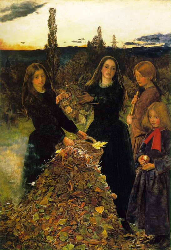 john everett millais, autumn leaves