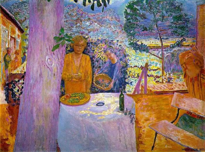 Pierre Bonnard, het terras in Vergnon
