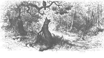 gustave doré, le corbeau et le renard
