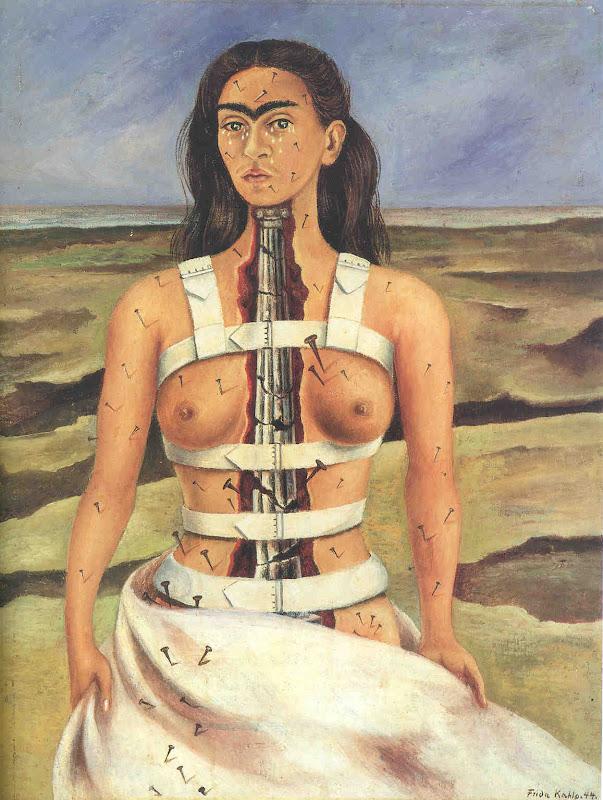 frida kahlo, broken column