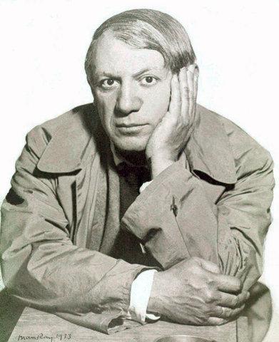 Man Ray, portret van Picasso