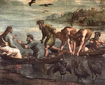 Rafaël, visvangst op het Meer van Galilei